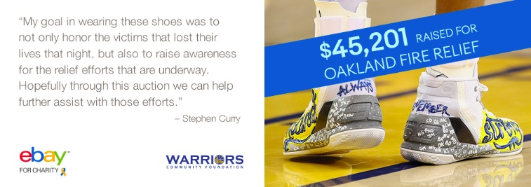 c5ba80d77fc9 Stephen Curry promoted the auction on his Twitter